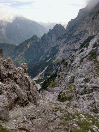 Il canalone sud del Col Alt