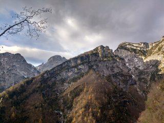 La Val del Burt e la cengia di Picòla